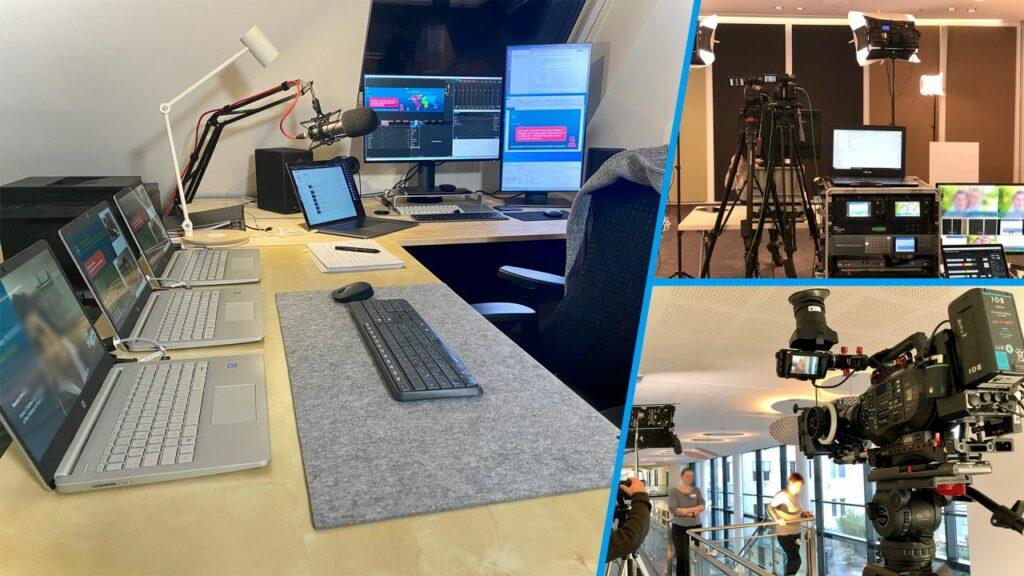 LinkedIn Live Produktion in Bonn, Büro